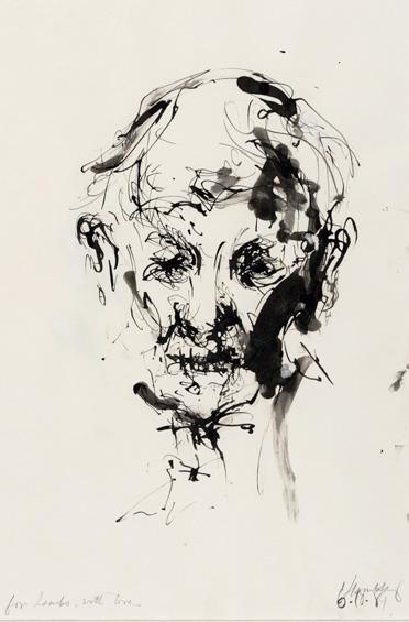 Maggi Hambling, Portrait of my Father, Ink