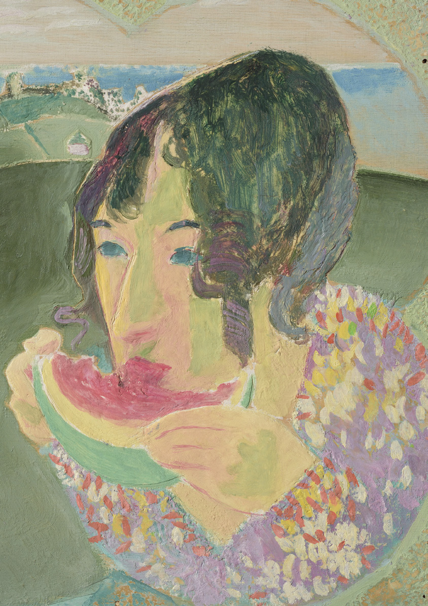 Jeffrey Camp, Portrait of Laetitia, Oil on Board