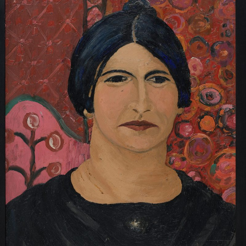 A painting of Delia Dobson by Cedric-Morris