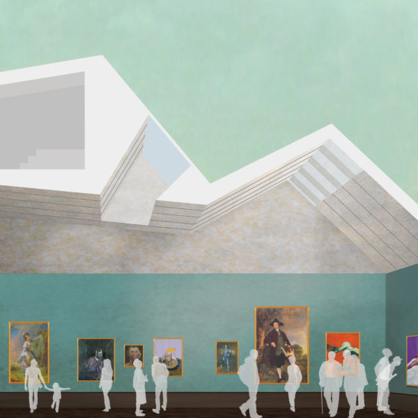 Artist's impression of our main gallery following development